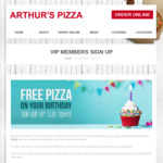 [NSW] Free Pizza on Your Birthday @ Arthur's Pizza (Randwick, Paddington, Bexley)