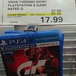 Gran Turismo Sport PS4 $17.99 @ Costco Membership Req
