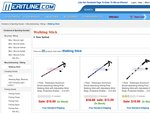 Telescopic shock-absorbing hiking poles/walking sticks US$9.99 and other deals (free shipping)