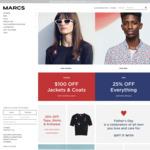 25% off All Menswear & Accessories @ Marcs