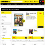 10% off Buy 2 Get 1 Free Movie Titles @ JB Hi-Fi e.g. $9.60 for One 4K Movie (Selected Titles) When You Purchase 3