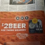 375ml Can or 330ml Bottle of Iron Jack or Furphy Ale for $2 if You Wear Thongs @ BWS