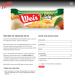 Free 40g Weiss Mango Ice Cream Bar @ Roll'd - November 30th from 2pm
