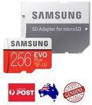 [eBay Plus] Samsung 256GB Evo+ Micro SD Card $66.50 w/P5OFF/ 128GB $28.95 Delivered @ Oz Bargain Hunter eBay