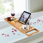 Bamboo Bathtub Caddy Tray with Extending Sides $13.99 + Delivery (Free with Prime/ $49 Spend) @ Langria Amazon AU