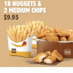 18 Nuggets and 2 Medium Chips $9.95 via App Vouchers @ Hungry Jack's
