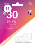 Telstra $30 Starter Kit $8 Delivered @ Telstra (incl. 30GB)