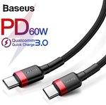 Baseus PD 2.0 60W Type-C To Type-C Cable US $2.96 (~AU $4.26)   Baseus 3A Type-C Cable US $1.42 (~AU $2.05) + More @ Joybuy