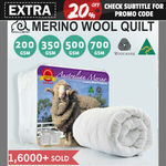 Merino Wool Quilts (Australian Made) from $47.20 Delivered @ Linen Dreams eBay