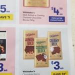 Whittakers Chocolate Blocks 200g $3 @ Big W