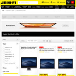 10% off Apple Mac Computers (Some Exclusions Apply) @ JB Hi-Fi