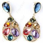 Pair of Stylish Crystal Style Eardrop $2.90+Free Shipping - TinyDeal.com