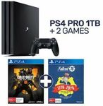 [eBay Plus] PlayStation 4 Pro 1TB Console (PS4) + 2 Games $466.65 + Delivery (Free C&C) @ EB Games eBay