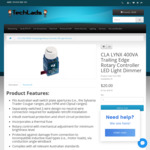 CLA Lynx LED Light Dimmer $20 + Delivery (Free Pickup Kelso, QLD) @ Techlads