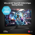 """Win an LG 32"""" Quad HD 144Hz G-Sync Gaming Monitor Worth Over $1,000 from Scan"""