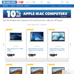 10% off Apple Laptops @ The Good Guys