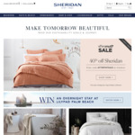 40% off Storewide (Excludes Hard Goods, Rugs & Baby Collection) @ Sheridan