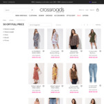 50% off Selected Full Price Clothing @ Crossroads (Online Only)