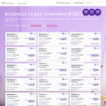 Virgin Australia Business Class Companion Sales: Eg One-Way to New Zealand from Perth $969, Brisbane $439, Sydney/Melbourne $489