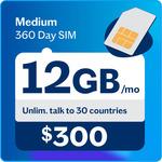 Medium 360 Day Plan Recharge $199 (Normally $215) @ Lebara