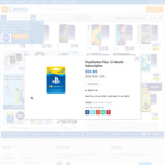 12 Month PlayStation Plus Subscripton $59.95 (Was $79.95) @ Big W