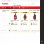 Hershey's Flavour Syrups 623g $2.50 (1/2 Price) at Coles