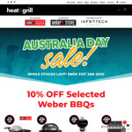 [VIC] 10% off Weber BBQs Inc Spirit II E-310 $809, Genesis II E-310 $1169 @ Heat & Grill (Richmond and Highpoint)