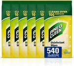 Pine O Cleen Lemon Lime Surface Wipes - 540 Wipes (6 x 90 Packs) $17.32 Delivered (via Subscribe & Save) @ Amazon AU