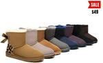 UGG Ladies Bailey Bow Mini Classic Sheepskin Boots $49 (Was $150) Delivered @ Ugg Express