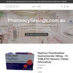 Hayfexo Fexofenadine Hydrochloride 180mg - 70 Tablets (Generic Telfast) $12.99 Inc Postage @ PharmacySavings