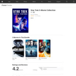 Star Trek 3-Movie Collection $9.99 @ Apple iTunes Store