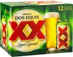 Dos Equis Lager Especial 12 x 355ml Cans $19 @ Woolworths