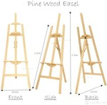 Artistic Pine Wood Easel Decoration Menu Painting Display $23.20 (30% off) + $9.90 Delivery @ Artoys