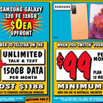 Samsung Galaxy S20 FE 4G 128GB $0 / 5G $149 Upfront on Telstra $99 150GB P/M 12M Contract (New / Port-In Customers) @ JB Hi-Fi