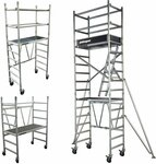 3.25m/3.8m/4.2m/5.5m/6.0m AUS Aluminium Mobile Scaffold from $564 - QLD, NSW, ACT, VIC + Delivery or Free Pickup @ Yakka Gear