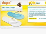 Free Dupe' Thongs When Any Optus Handset Purchase