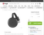 Google Chromecast 3 + $1 Item $40 (after $10 Sign up Voucher) @ Target