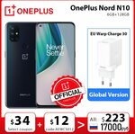 OnePlus Nord N10 5G 6GB 128GB NFC US$281.70 (A$364.11) @ OnePlus Official Store AliExpress