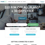 Fuzenet Internet Plan 30 Day Free + $10 off Any Plan (12 & 24 Months Contracts Only) @ Fuzenet