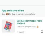Zooper Dooper 24 Pack $2.50 @ 7-Eleven via App