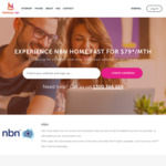 nbn50 Plan $65/month + Free Activation (Min 12 Month Contract & New Customers Only) @ Harbour ISP