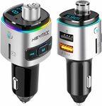 HEYMIX Car Bluetooth 5.0 FM Transmitter w/ QC3.0, Voice Assistant, USB $12.99 + Post ($0 Prime/ $39 Spend) @ AU SELECT Amazon AU
