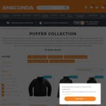 40% off Puffer Jackets $60-$299.99 (TNF, H/H, Mountain Designs, Marmot) + Delivery ($0 with $99 Spend) @ Anaconda (Members Only)