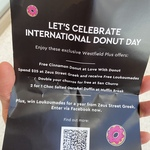 [WA] Free Cinnamon Donut from Love with Donut @ Westfield Carousel