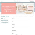 Win a $500 Incy Interiors Voucher from Baby to Toddler Show