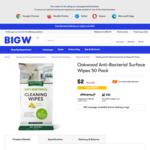 Oakwood Anti-Bacterial Surface Wipes 50 Pack $2 @ Big W