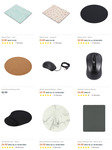 Mouse Pads $1, Wireless Mouse $4, Bluetooth Mouse $10, Indoor TV Antenna $5, Car Dash Phone Holder $5, Selfie Light $10 @ Kmart