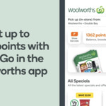 Collect up to 3500 Points When You Shop with Scan&Go (App and Boost Required) @ Woolworths (Select Stores, Excludes TAS & NT)