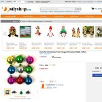 Free Sample of Colorful Christmas Tree Hanger Ornament Balls 12pcs at Dailyshop