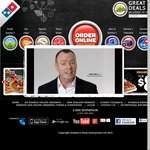 Domino's 3 Large Traditional/Chef's Pizzas + Garlic Bread + 1.25 Lt Coke Delivered for $25.00